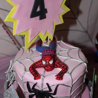 A Girls Spiderman Cake!