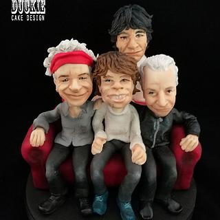 Rolling Stones Cake Topper