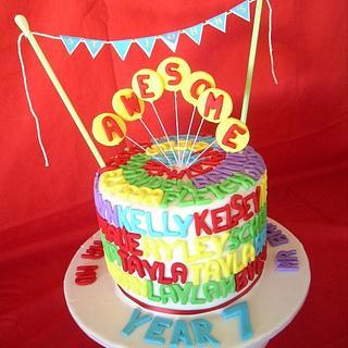 Year 7 graduation cake