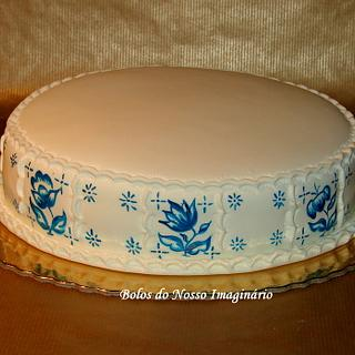 Hand painted Portuguese Tiles Cake
