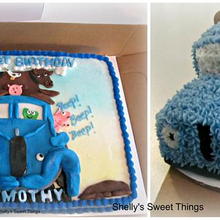 Little blue truck ''beep'' ''beep' - Cake by Shelly's Sweet Things