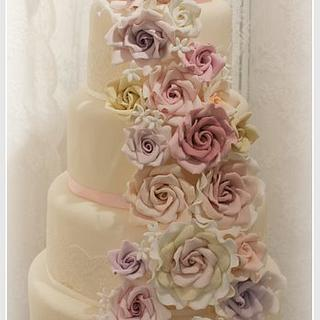 Rose cascade 5 tier