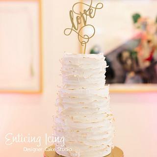 White Ruffle cake