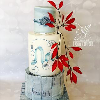 Christmas cake - Cake by Cecilia Campana