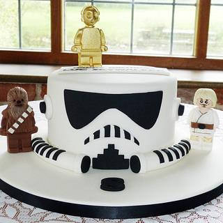 Star Wars Stormtrooper helmet cake - Cake by Angel Cake Design