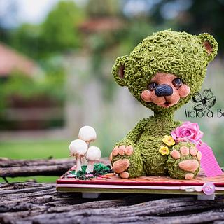 BabyBear Cake Sculpture  - Cake by VictoriaBean