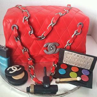 Chanel Bag w/edible makeup - Cake by TheCakeBar