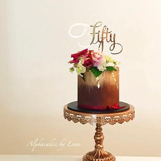 Fifty birthday cake