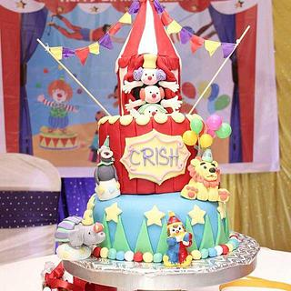 Circus theme First birthday cake - Cake by Sabrina Corera