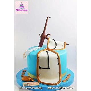 Salvador Dali famous painting as a cake