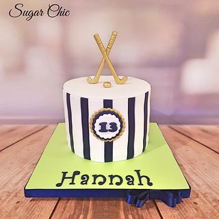 Field Hockey Birthday Cake