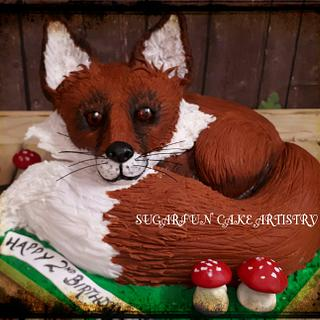 Fox - Cake by Sandra Maria Clennell SUGARFUN