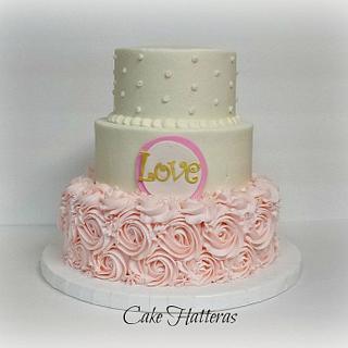 A House Built On Love - Cake by Donna Tokazowski- Cake Hatteras, Hatteras N.C.