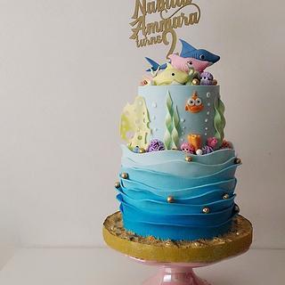 Baby Shark (Pink Fong) Cake