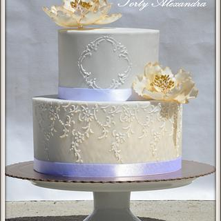 Wedding cake stencils
