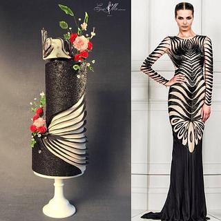 Zuhair Murad fashion cake