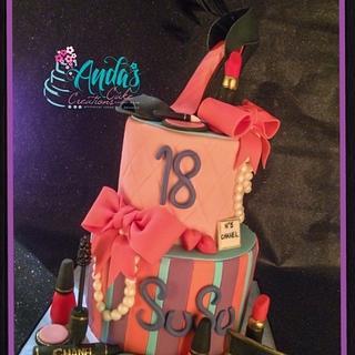 18th Birthday Fashionista Cake - Cake by Anda Nematalla