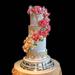 rose wedding cake  - Cake by alison1966