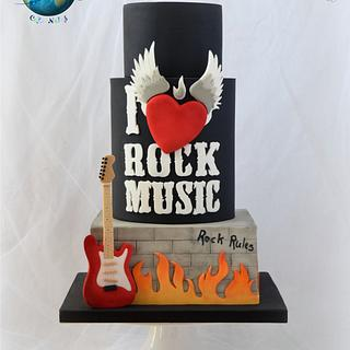 Rock Music Cake - Music Around the World - Cake Notes Collaboration