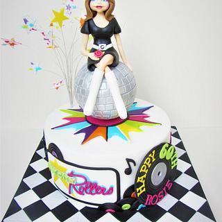 70's Music Themed Cake