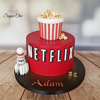 x Netflix Birthday Cake x - Cake by Sugar Chic