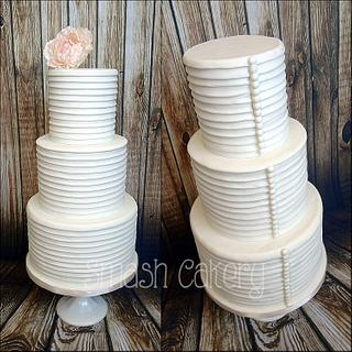 Preppy Pleated Wedding Cake - Cake by Lindsey Krist