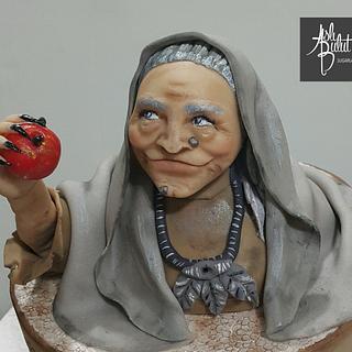 Sugar paste witch bust