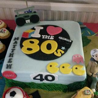 I love the 80's- football and fishing cake