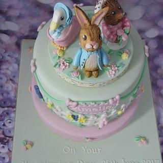 Peter Rabbit Christening cake.