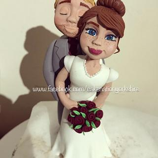 Bride and groom cake topper  - Cake by Cake Nation