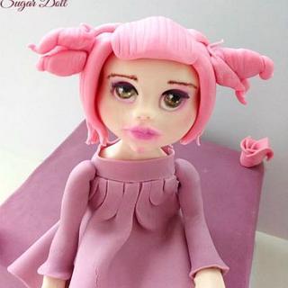 Shabby Pink Sugar Doll