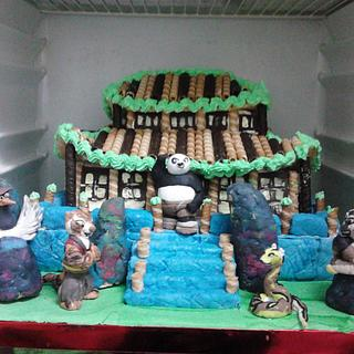 TEMPLE OF KUNG FU CAKE