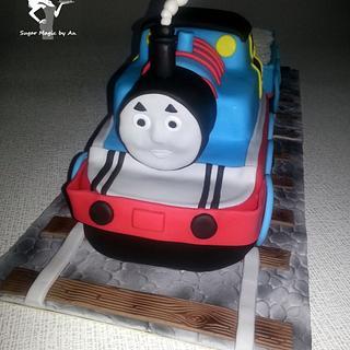 Thomas the Train - Cake by Antonia Lazarova