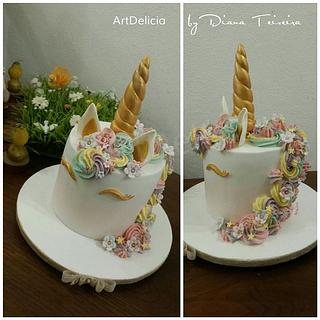 Bolo Unicórnio - Unicorn Cake