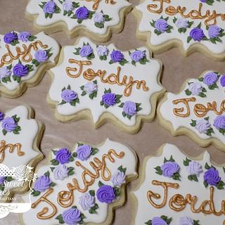Purple Rose Cookies