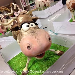 Sculpted cow cake :) made In a Kaysie lackey class
