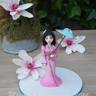 Geisha - Cake by Alice van den Ham - van Dijk