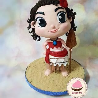 Moana 3D cake