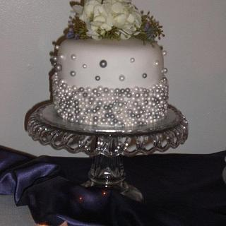My 1st Wedding....very exciting. - Cake by Sandee