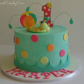 Pool Themed B-Day Cake