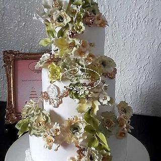 Floral birthday cake - Cake by Fées Maison (AHMADI)