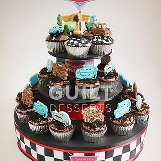 Cars Cupcakes - Cake by Guilt Desserts