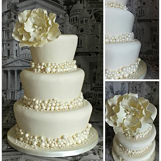Pearls and Peony - Cake by jennie