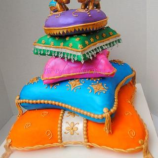 Indian inspired pillow cakes