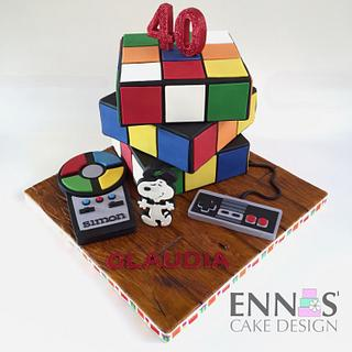 MOVING Rubik's Cube Cake
