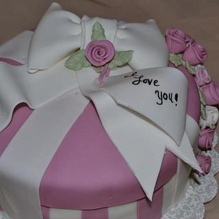 Valentine's Gift box cake 2012