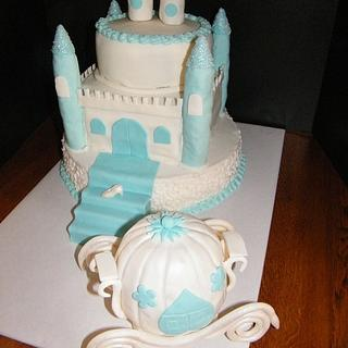 Cinderella themed 16th birthday - Cake by Judy Remaly