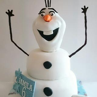 3D Olaf cake