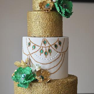 Emerald Anniversary Cake - Cake by Rebekah Naomi Cake Design