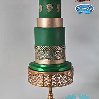 Emerald Riches - Cake by Nichole Stiglich Cake Design